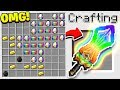 HOW TO CRAFT A $100,000 RAINBOW SWORD! *OVERPOWERED* (Minecraft 1.13 Crafting Recipe)