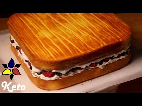 Naked Vanilla Sponge Cake (sugar free, grain free and keto)