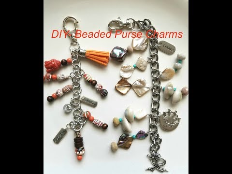 Jewelry Making Tutorial- How to make a beaded purse charm! DIY