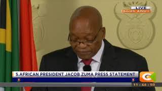 President Jacob Zuma resigns