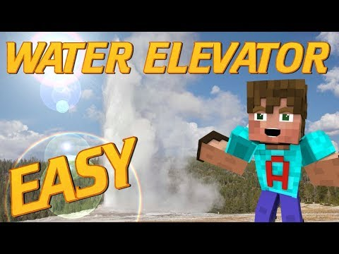 How to Make a Water Elevator in Minecraft | No Redstone | Easiest Water Elevator EVER | Tutorial