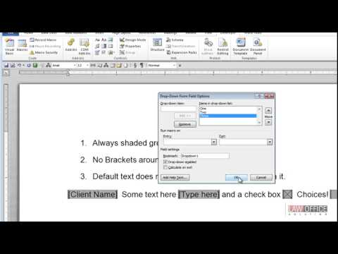 word legacy forms video response