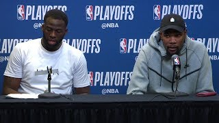 Draymond & Kevin Durant Postgame Interview | Warriors vs Spurs - Game 4 | 2018 NBA Playoffs