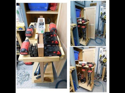 Sliding Tool storage cabinet build