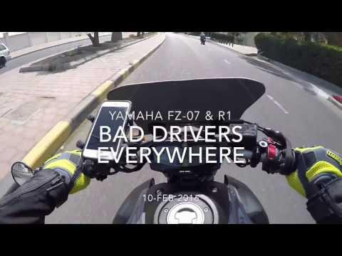 Careless Drivers - Kuwait Bikers Show - FZ07, R1