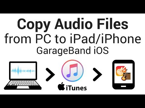 Copy Audio Files from PC to GarageBand iOS (iPhone/iPad)- Import Using iTunes File Sharing