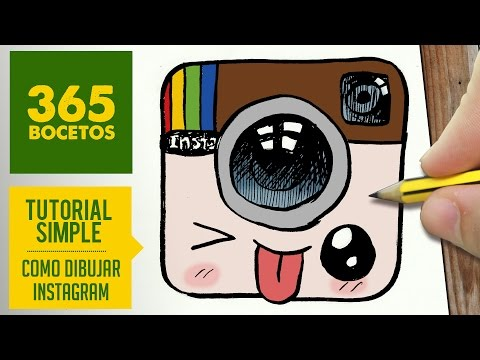 Como Dibujar Logo Instagram Kawaii Paso A Paso Dibujos