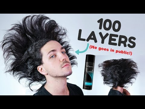100 Layers of Hairspray Challenge - Men's Hairstyles