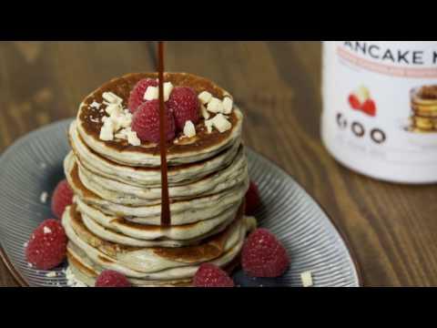 Pancake Mix med White Chocolate Raspberry // Bodylab