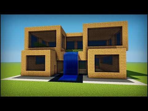 Minecraft: How to build a simple oak modern house