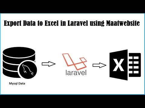 Export Data to Excel in Laravel using Maatwebsite