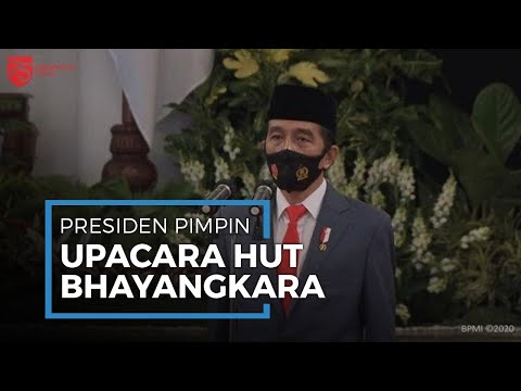 Presiden Pimpin Langsung Upacara HUT ke-74 Bhayangkara di Istana Negara