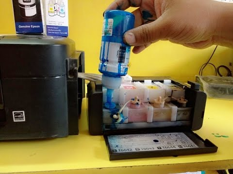 How to Refill Ink in Ink Tank Color Printers