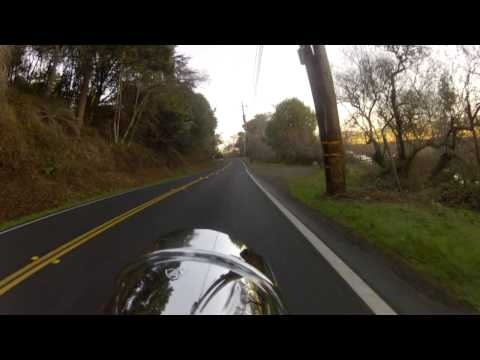 Point Reyes to Inverness Along Tamales Bay, California on my Softail Deuce FXSTD