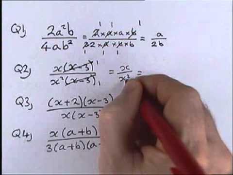 How to do Algebra  Part 1 7   Simplifying Algebraic Fractions 1