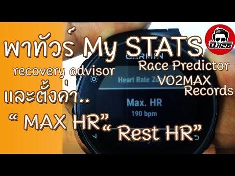 วิธีการตั้งค่า MAX HR และ RHR ในนาฬิกา Garmin FR235