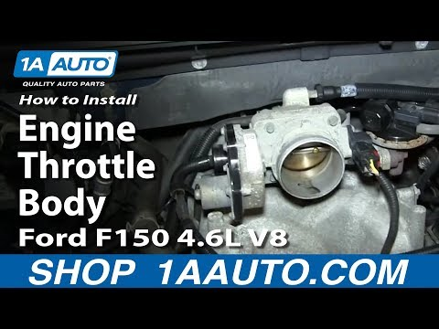 How To Install Replace Engine Throttle Body 2005-06 Ford F150 4.6L V8