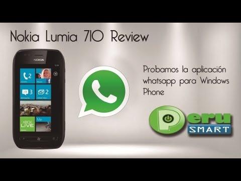 [Peru Smart] [Análisis] Probamos el Whatsapp en el Nokia Lumia 710
