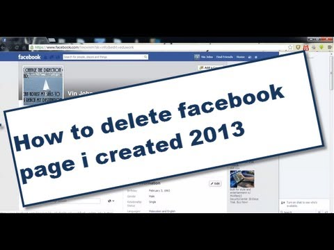 how to delete facebook page i created 2014