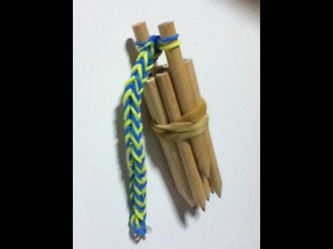 How to Make a Loom Band Loom - Fishtail Loom Band - Step by Step Instructions - Uses Everyday Items