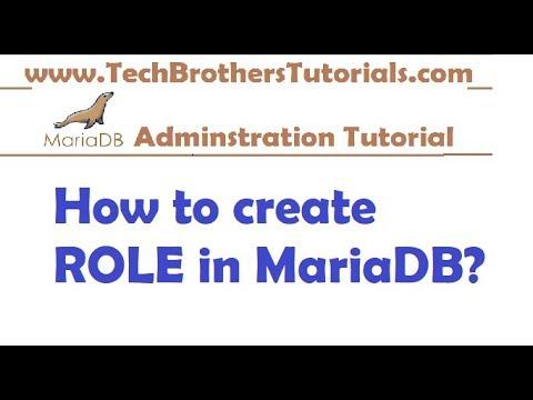 How to create ROLE in MariaDB - MariaDB Admin Tutorial