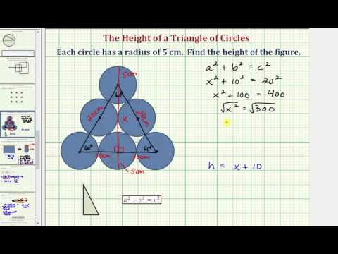 Find the Height of a Triangle of Circles