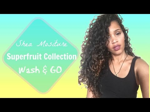 CURLY HAIR ROUTINE| SHEA MOISTURE SUPERFRUIT COMPLEX COLLECTION