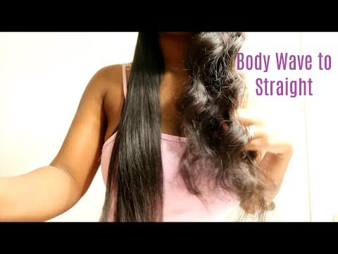 Body Wave To Straight Hair | Julia Hair