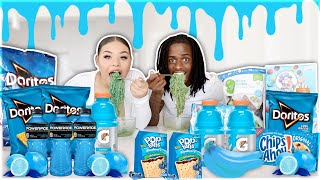 We Only Ate BLUE FOOD For 24 HOURS!! (IMPOSSIBLE CHALLENGE)