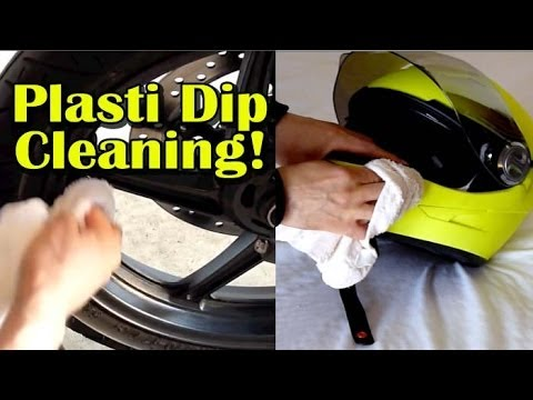 How To Clean PLASTI DIP - Motorcycle Helmet and Wheels