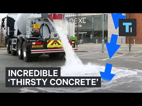 'Thirsty Concrete' Absorbs Water