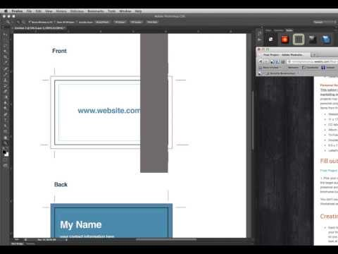 Make a Business Card Template in Photoshop