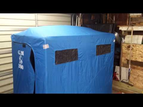 Clam 2000 insulating a  non insulated suit case shanty Roof Insulation and pitch Mod