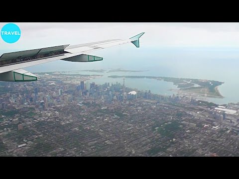 Air Canada A320 Beautifully Scenic Landing at Toronto Pearson Airport!