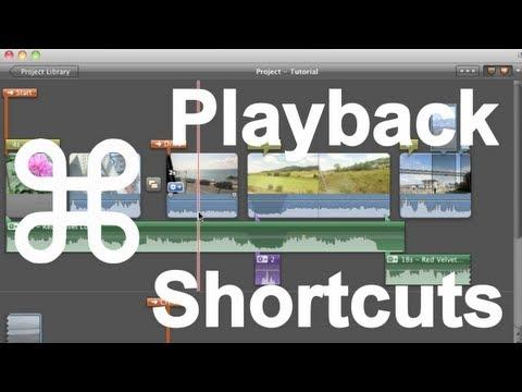iMovie 11 - Playback Shortcuts
