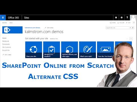 SharePoint Server Publishing Infrastructure 8 - Alternate CSS URL
