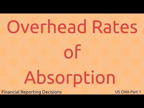 Overhead Rates of Absorption | Financial Reporting Decisions| US CMA Part 1| US CMA course