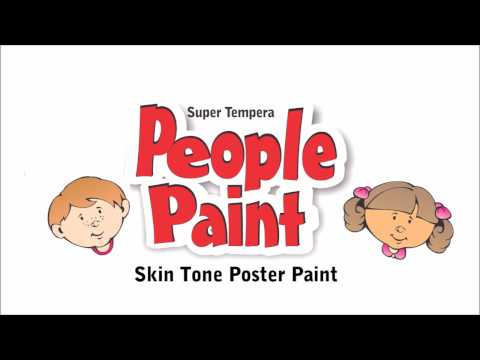 Skin Tone Paints for the classroom.  FAS - Super Tempera People Paint Set