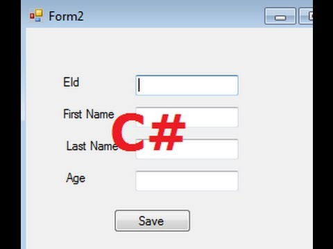 C# Tutorial 5: How To Open A Second Form using First Form