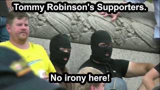 Ironic Tommy Robinson Supporters Did Not Get The Memo On The  Burka