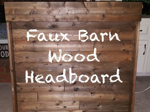 Faux Barnwood Headboard