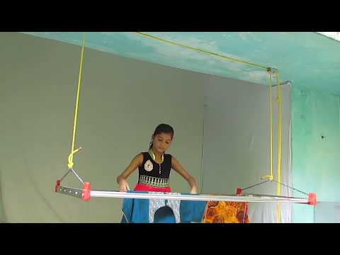 Creative Cloth Drying Pulley Operated Hanger