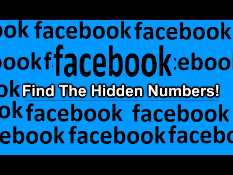 facebook hidden number