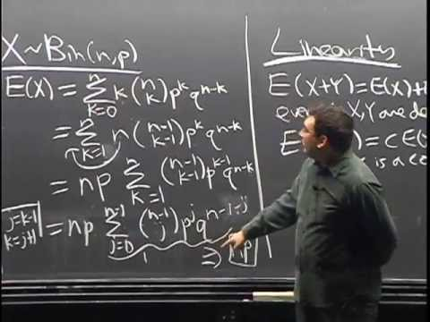 Lecture 9: Expectation, Indicator Random Variables, Linearity   Statistics 110