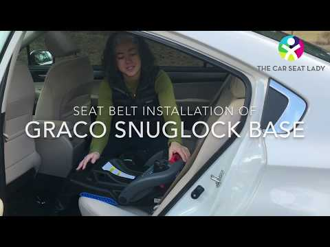 Graco SnugRide SnugLock - base installation with seat belt