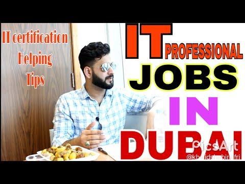 IT PROFESSIONAL JOBS HUNTING TIPS IN DUBAI | HOW TO GET IT PROFESSIONAL CERTIFICATION DETIL IN HINDI