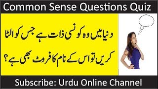 Common Sense Questions | Test | Urdu Point | Paheliyan in
