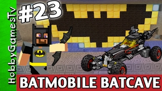 Minecraft BATCAVE Bat Mobile Awesome Super Fun Build BATMAN Logo Xbox One HobbyGamesTV