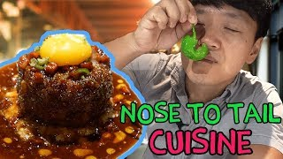 Eating The WHOLE Animal! NINE Course NOSE to TAIL Feast in Singapore