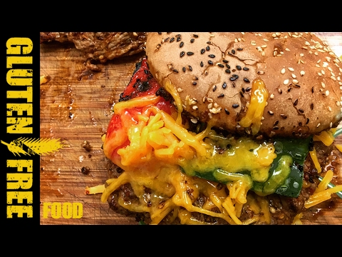 Mexican spicy flank burger - gluten free recipe